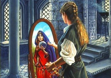witch and mirror